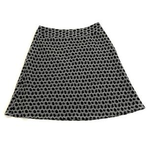 Ann Taylor Petites Flare Skirt Size 6P Chainlink